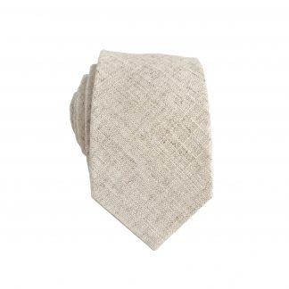 Cream, Taupe Textured Solid Skinny Men's Tie 5543-0