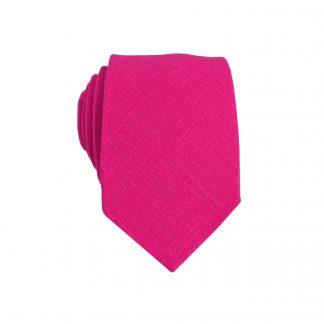 Fuchsia Solid Skinny Men's Tie 1808-0