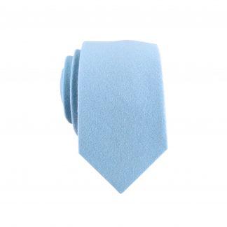 Light Blue Solid Skinny Men's Tie 1642-0