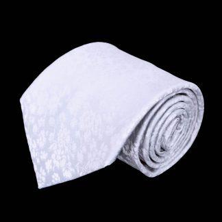 White Tone on Tone Floral Men's Tie 7988-0