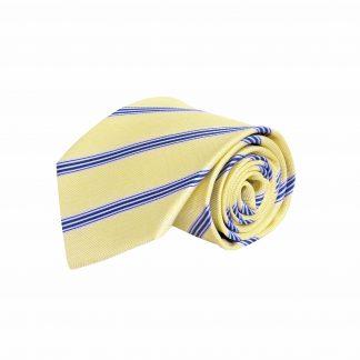 Yellow, Blue Stripe Men's Tie 7901-0