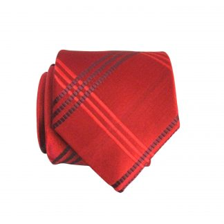 "49"" Boy's Red Criss Cross Tie 10044-0"