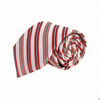 Red, Green, White Candy Cane Stripe Christmas Men's Tie 1551-0