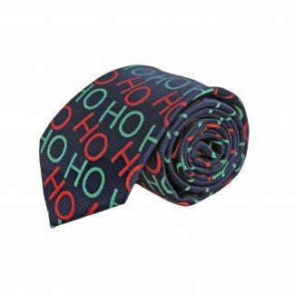 Navy Ho Ho Christmas Men's Tie 8801-0