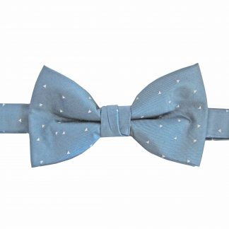 Blue Triangles Banded Bow Tie 9421-0