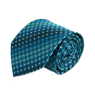 Navy, Teal, Blue Small Square Faded 6342-0
