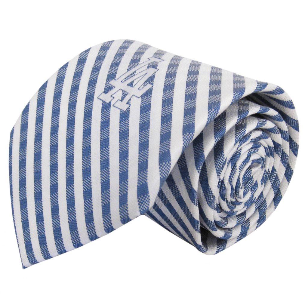 White LA Dodgers Skinny Tie